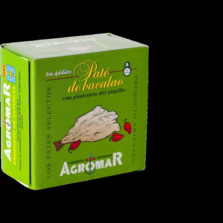 Agromar Paté de Bacalao (Kabeljau-Pastete mit Piquillo-Paprika) 100g
