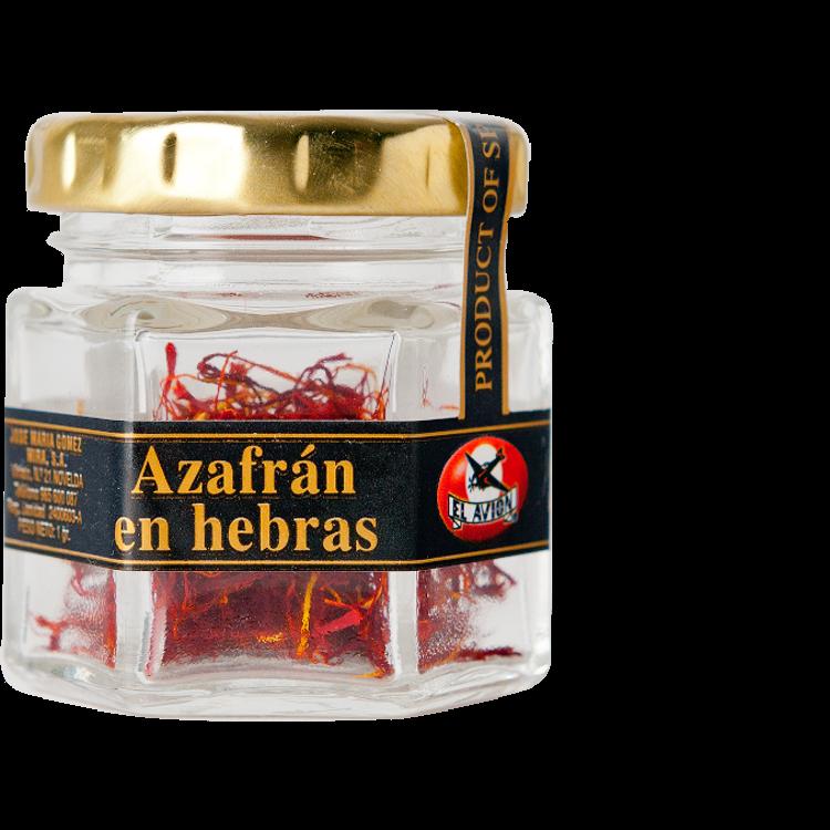 El Avión Azafrán en hebras (Safranfäden) 1g-Glas