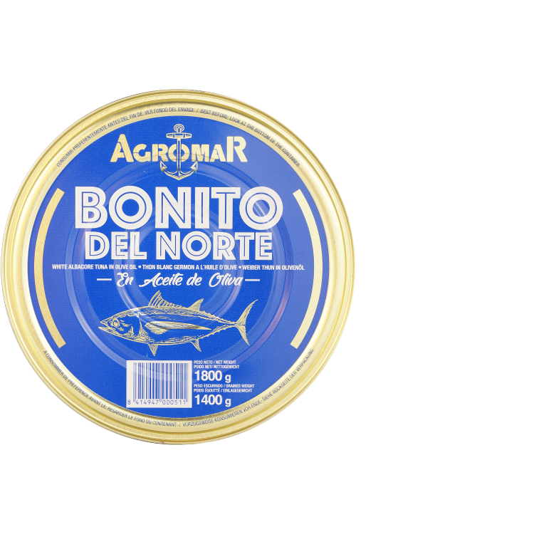 Agromar Bonito del Norte (Weißer Thunfisch in Olivenöl) 1,4kg