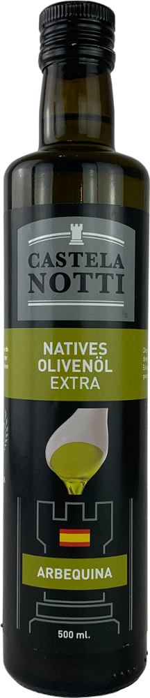 Castelanotti Aceite de Oliva Virgen Extra Arbequina 0,5l-Flasche