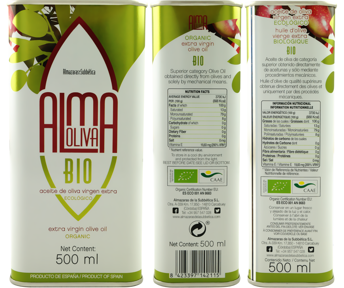 Almaoliva BIO Aceite de Oliva Virgen Extra 0,5 L