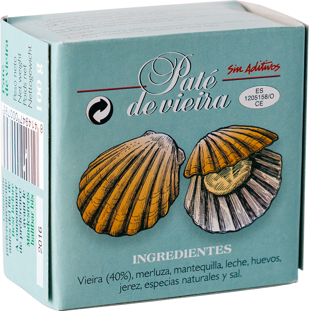 Agromar Paté de Vieira (Jakobsmuschel Pastete) 100g