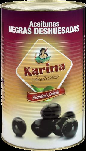 Karina Schwarze Oliven ohne Stein, Dose, 2 kg Abtropfgewicht